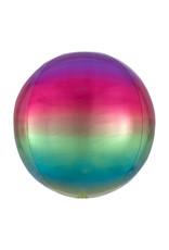 Amscan folieballon orbz regenboogkleuren 38 x 40 cm