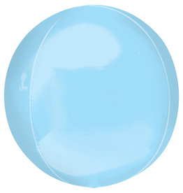 Amscan folieballon orbz pastel blauw