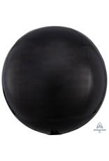 Amscan folieballon orbz zwart metallic
