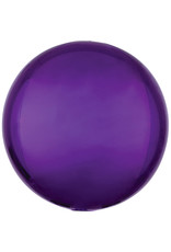 Amscan folieballon orbz paars metallic