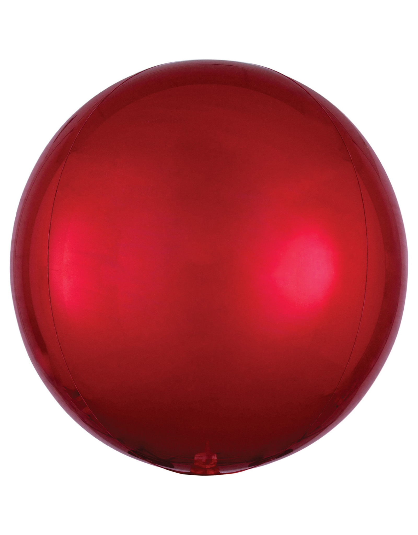 Amscan folieballon orbz rood metallic