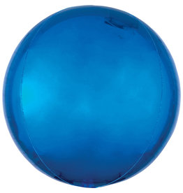 Amscan folieballon orbz blauw metallic