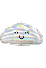 Amscan folieballon wolk smile holographic 58 cm