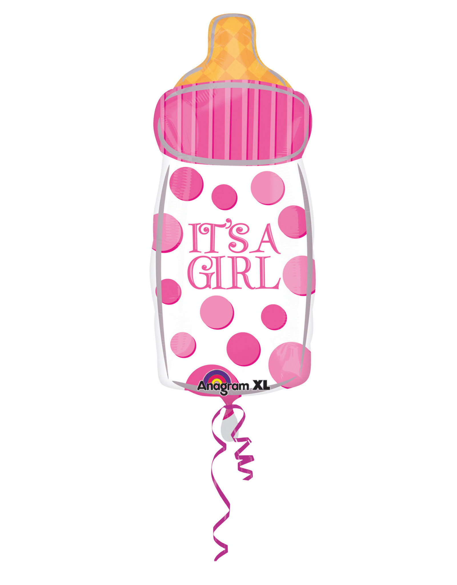 Amscan folieballon it's a girl fles 58 x 25 cm