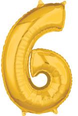 Amscan folieballon goud cijfer 6 66 cm