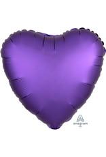 Amscan folieballon paars hart 43 cm