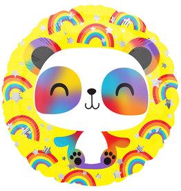 Amscan folieballon panda regenboog 46 cm