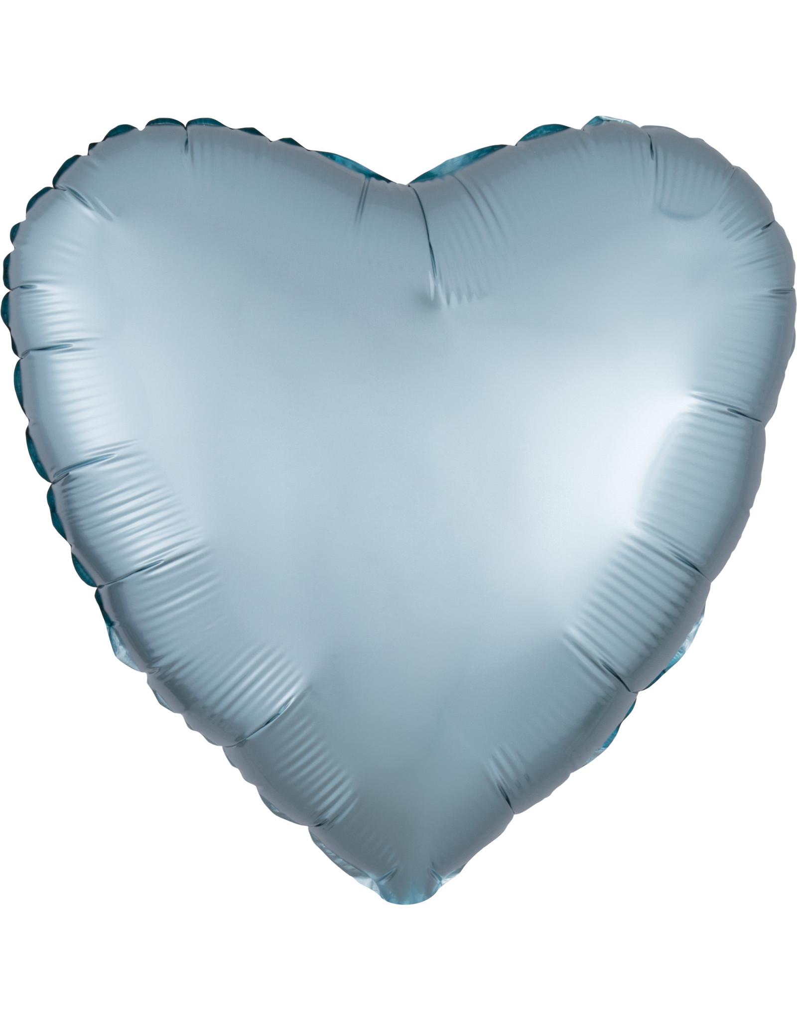 Amscan folieballon pastel blue hart 43 cm