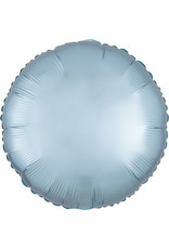 Amscan folieballon pastel blue rond 43 cm