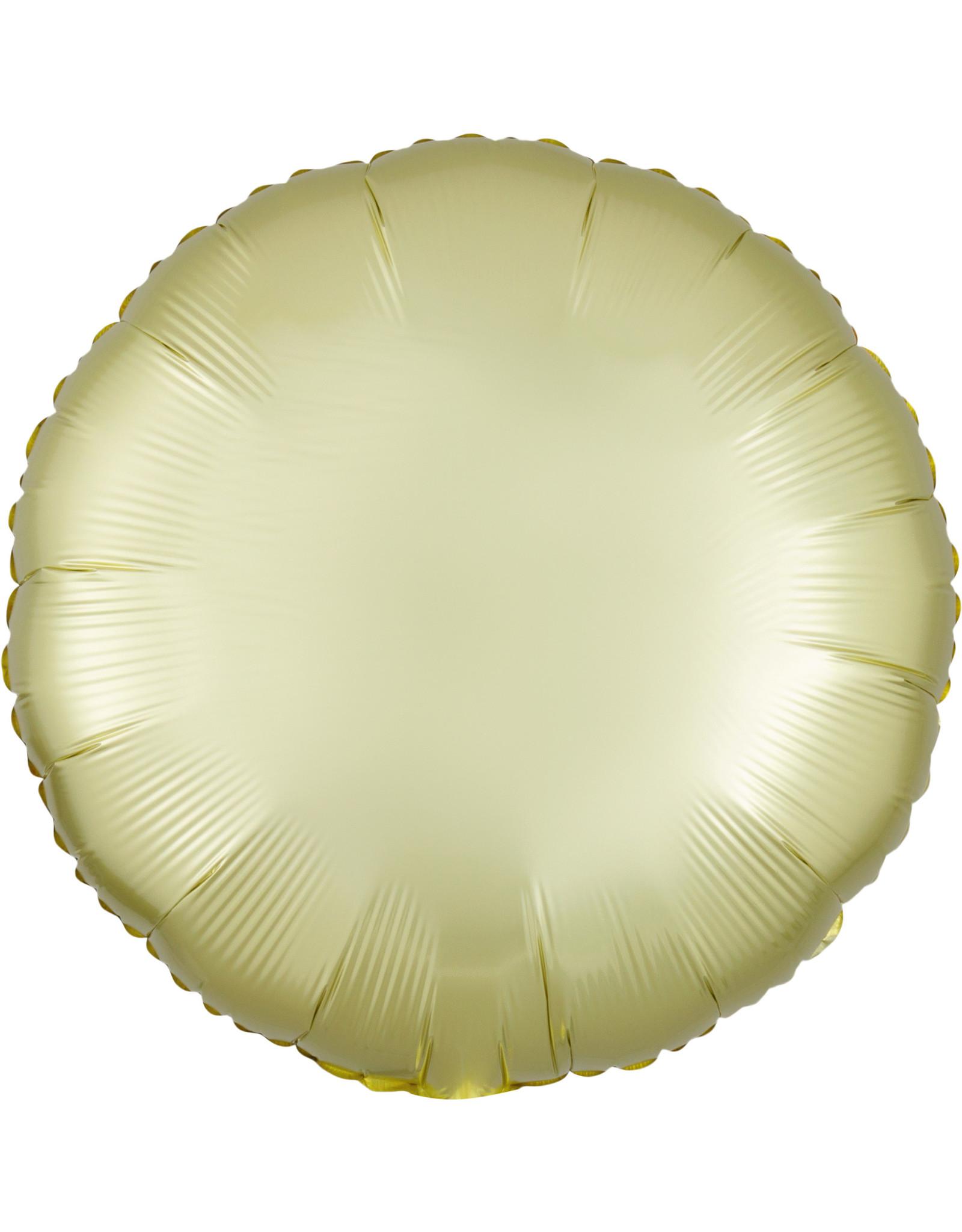 Amscan folieballon pastel yellow rond 43 cm