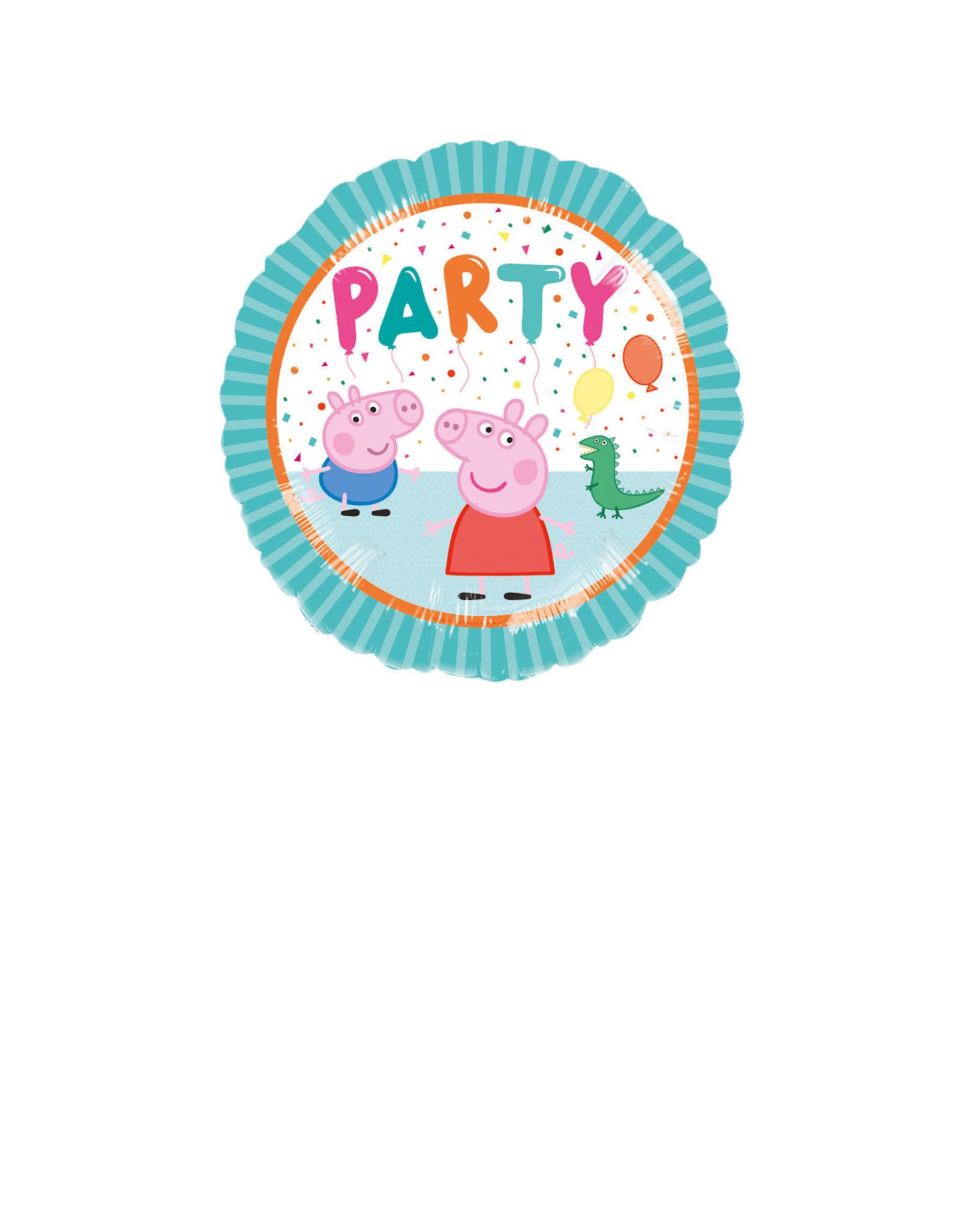 Amscan folieballon Peppa pig party 43 cm
