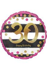 Amscan folieballon pink & gold 30 jaar 45 cm
