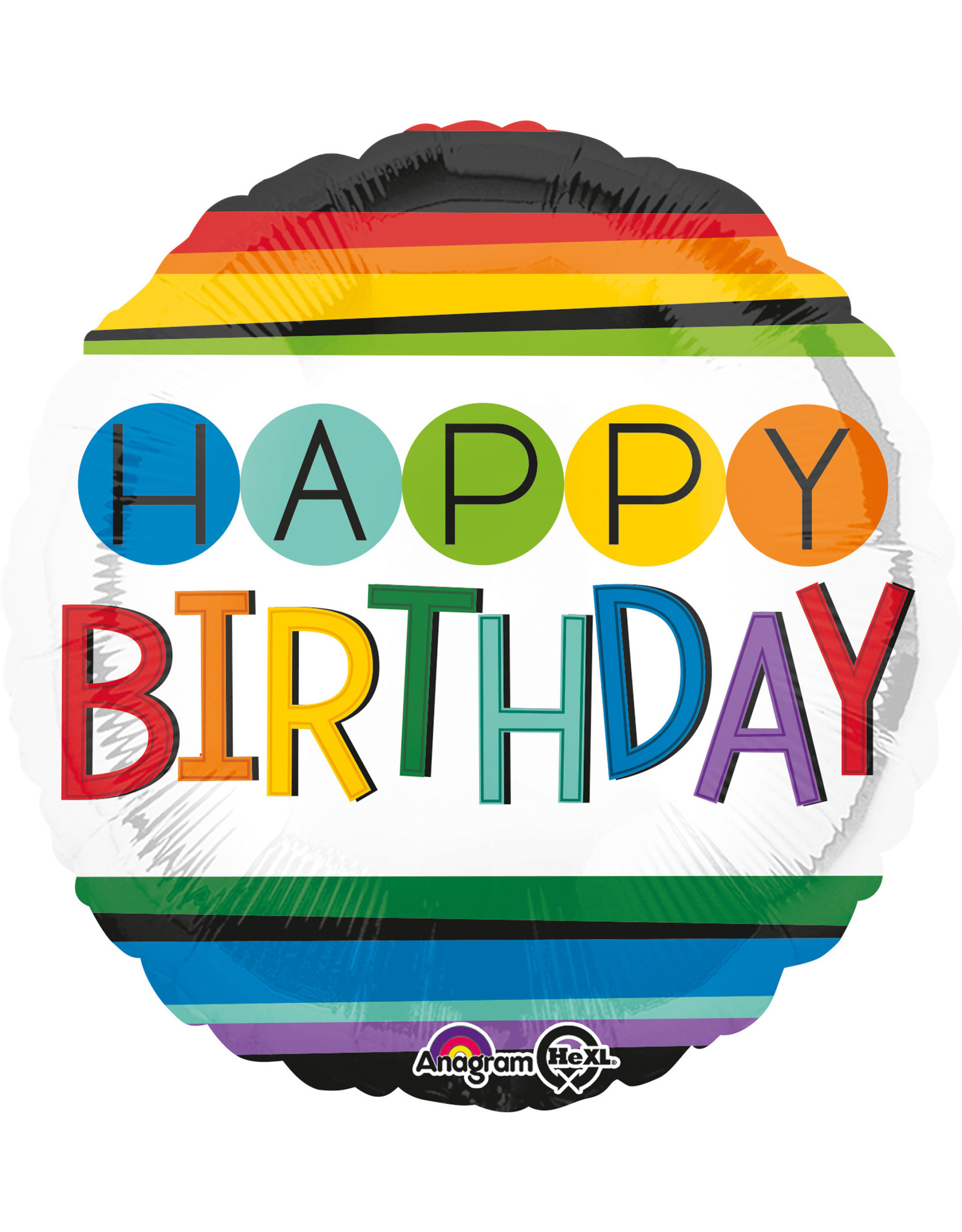 Amscan folieballon rainbow birthday 43 cm