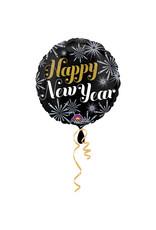 Amscan folieballon rond happy new year 45 cm