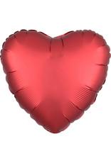 Amscan folieballon rood mat/met. Hart 43 cm
