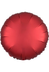 Amscan folieballon rood mat/met. Rond 43 cm