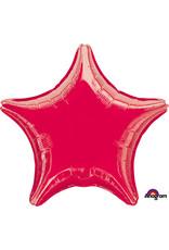 Amscan folieballon rood ster 48 cm