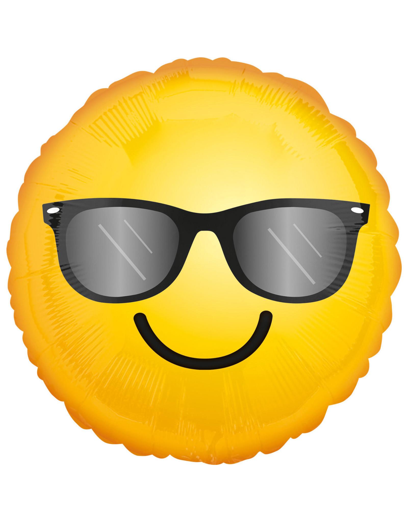 Amscan folieballon smiley sunglasses 43 cm
