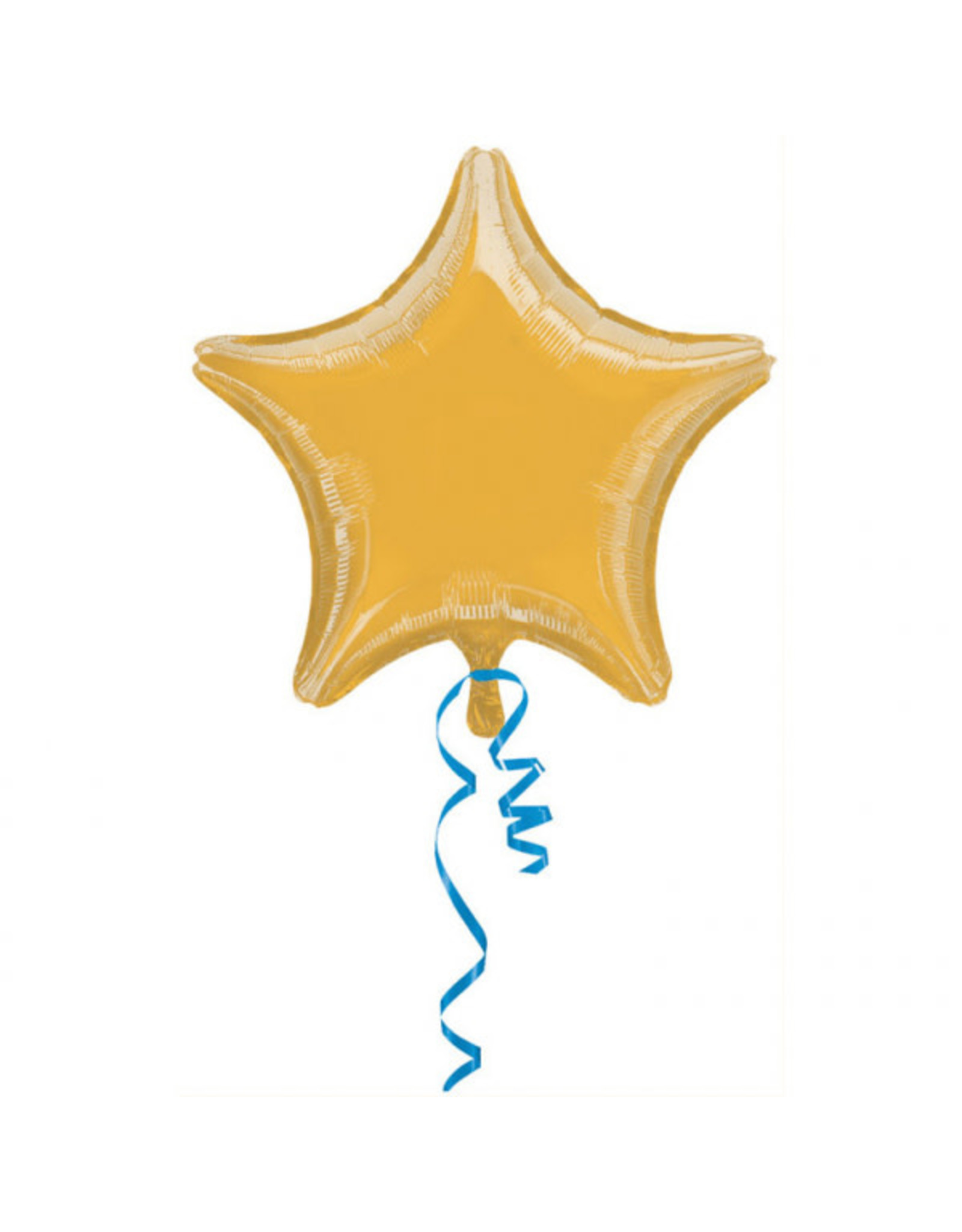 Amscan folieballon ster goud metallic 48 cm