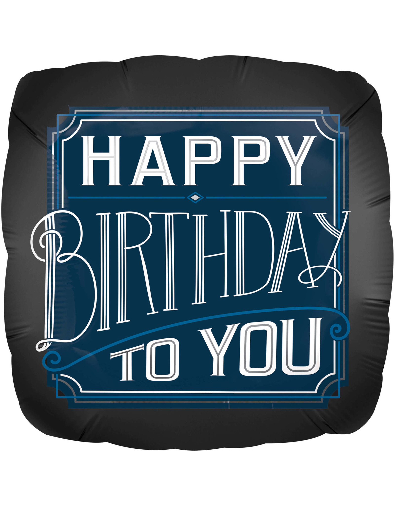 Amscan folieballon supershape happy birthday to you D blauw 71 cm