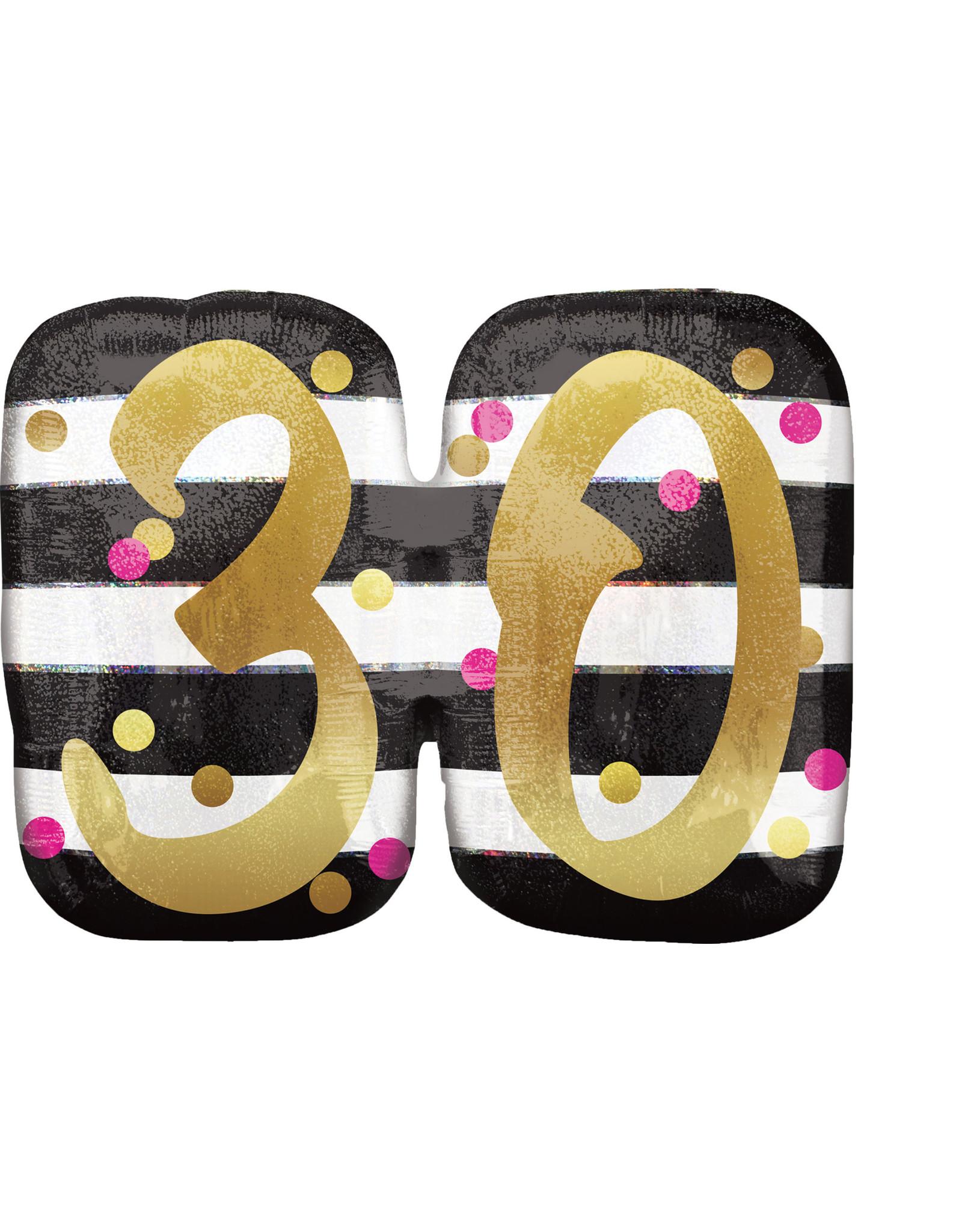 Amscan folieballon supershape pink&gold 30 jaar