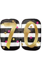 Amscan folieballon supershape pink&gold 70 jaar