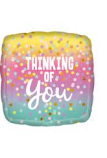 Amscan folieballon thinking of you 43 cm