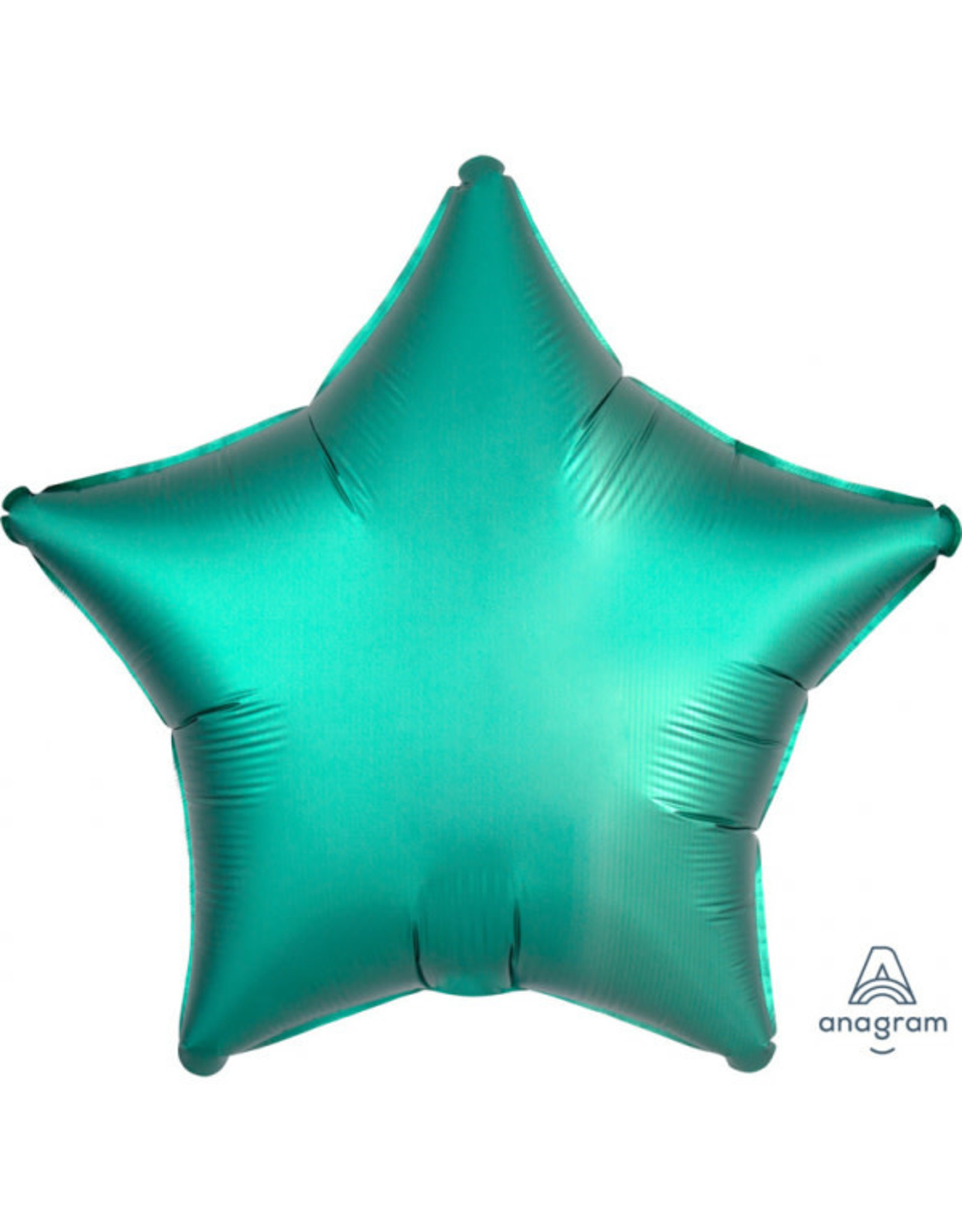 Amscan folieballon turquoise ster 48 cm