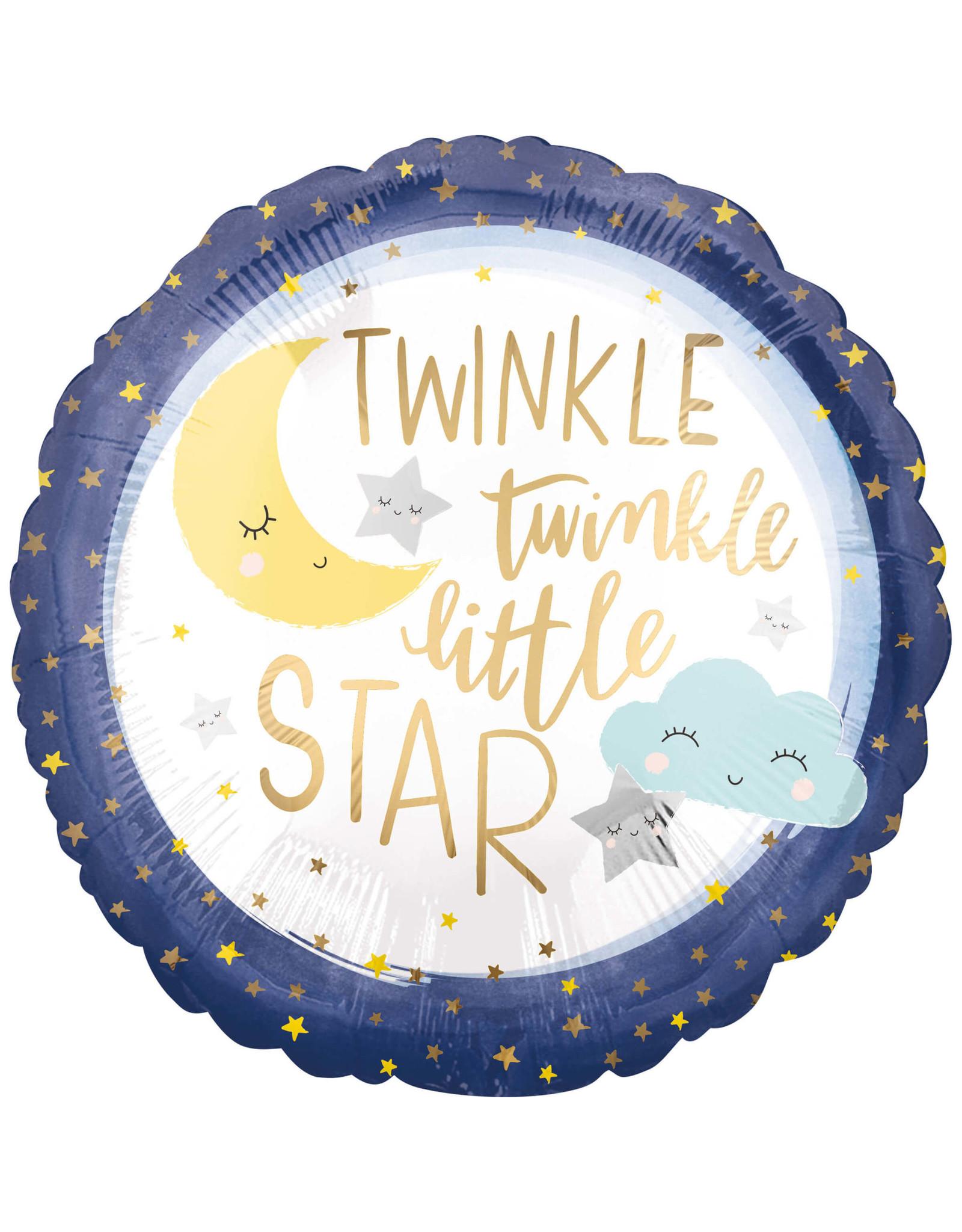 Amscan folieballon twinkle little star 45 cm