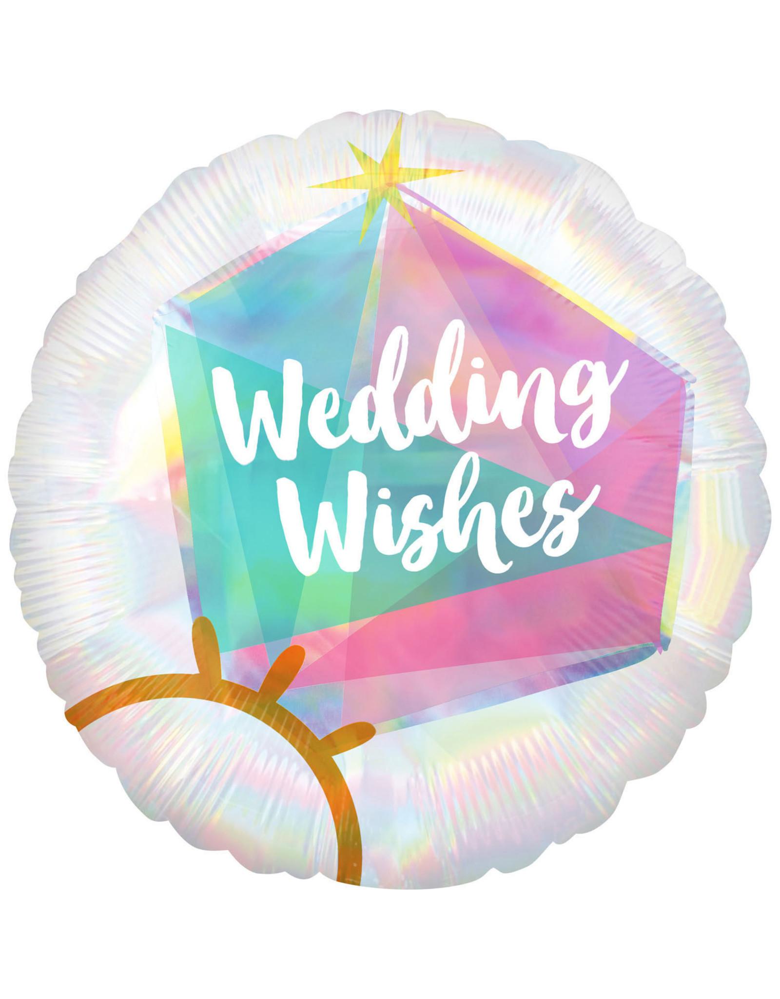 Amscan folieballon wedding wishes 45 cm