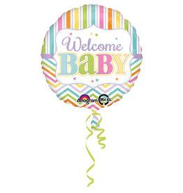 Amscan folieballon welcome baby 43 cm