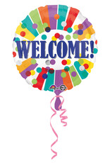 Amscan folieballon Welcome stip&streep 43 cm