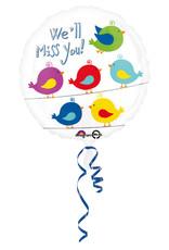 Amscan folieballon we' ll miss you! 43 cm