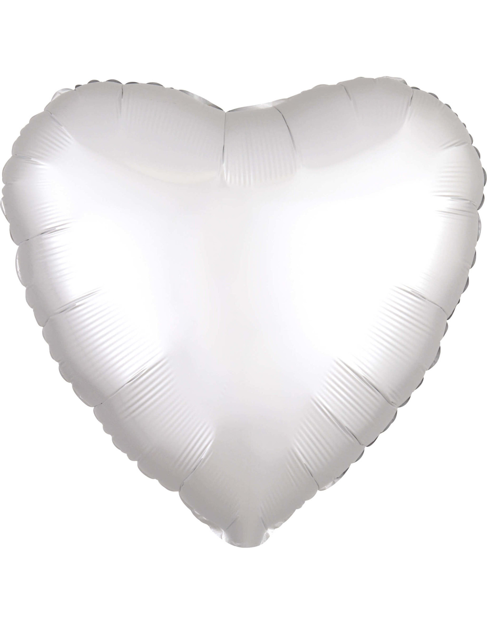 Amscan folieballon wit mat hart 43 cm