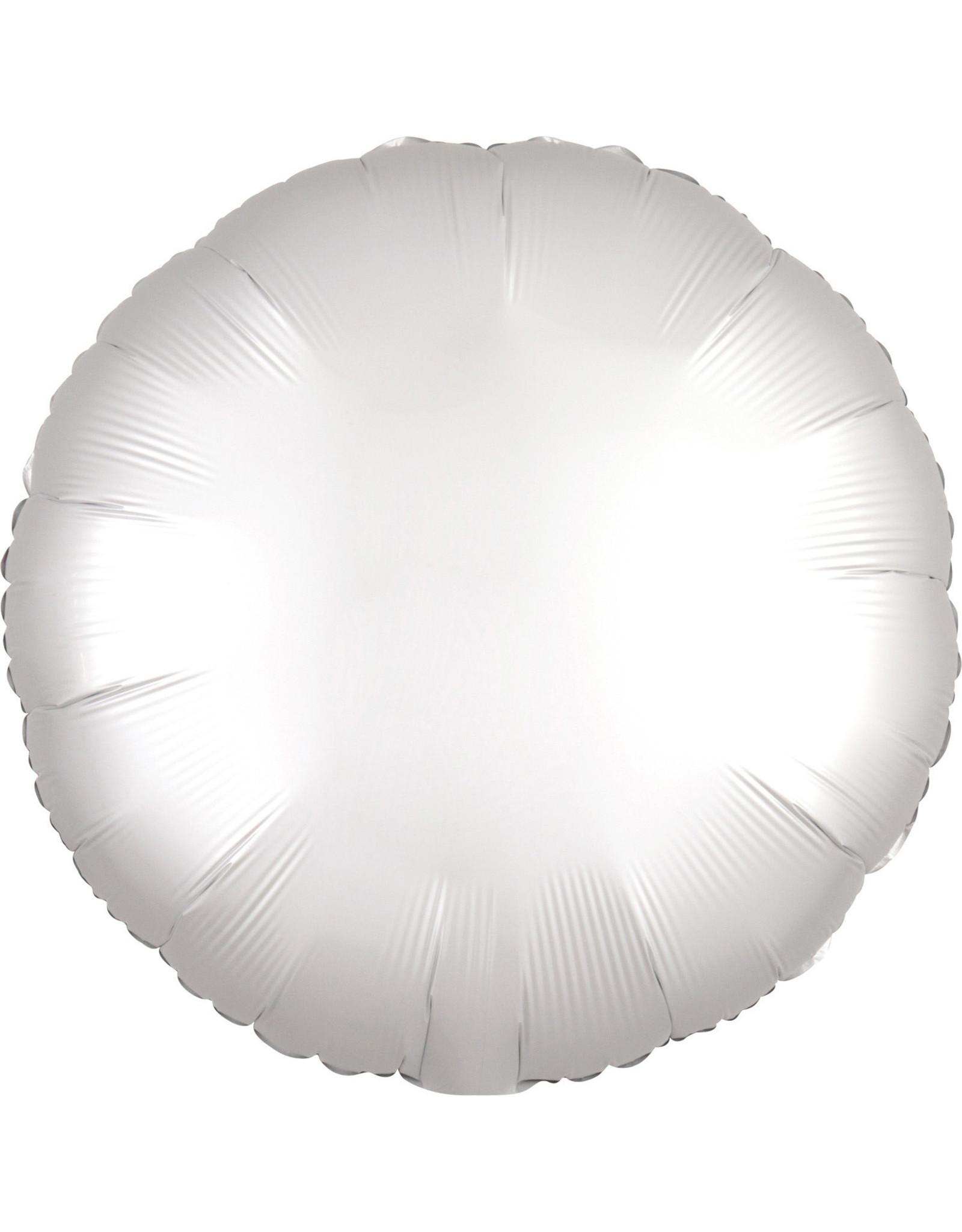 Amscan folieballon wit mat rond 43 cm