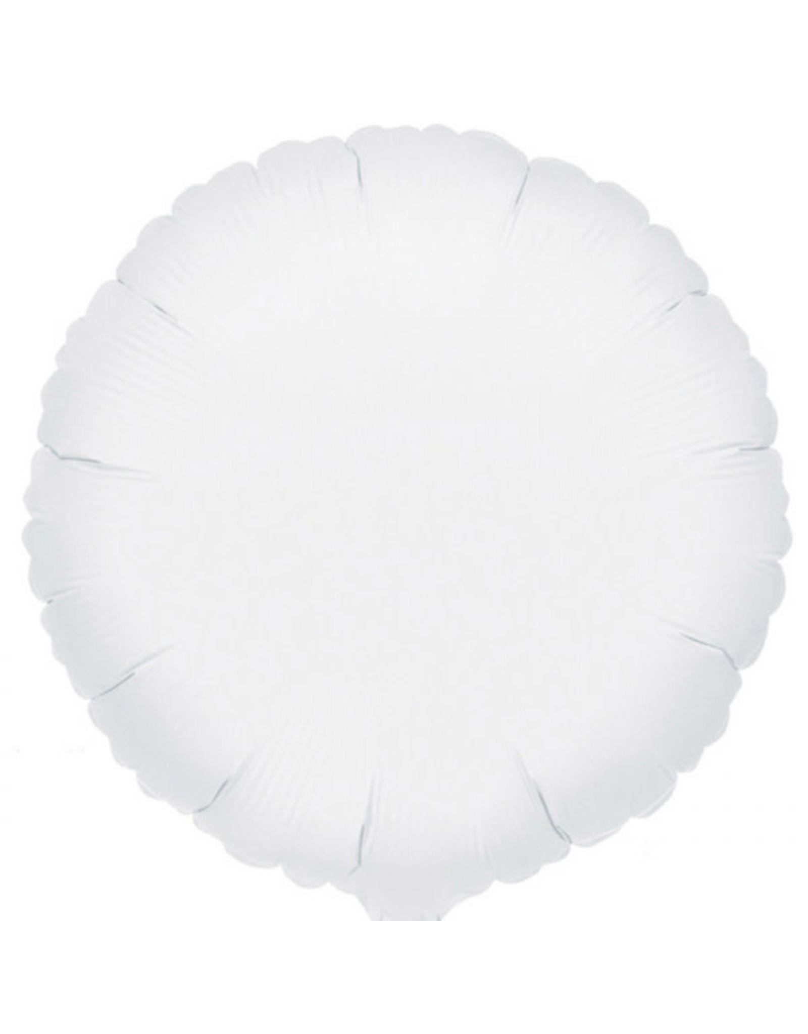 Amscan folieballon wit rond 43 cm