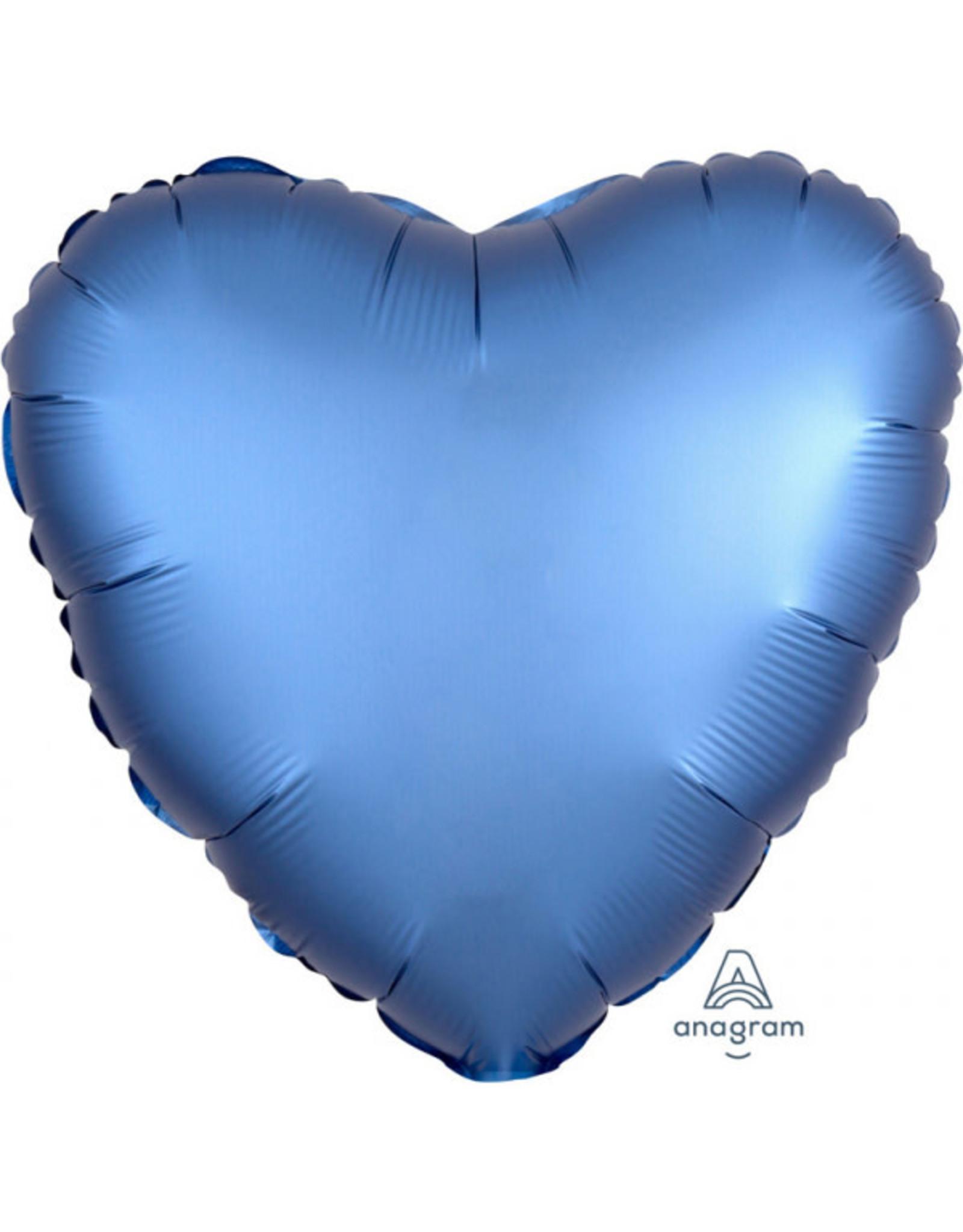 Amscan folieballon blauw hart 43 cm