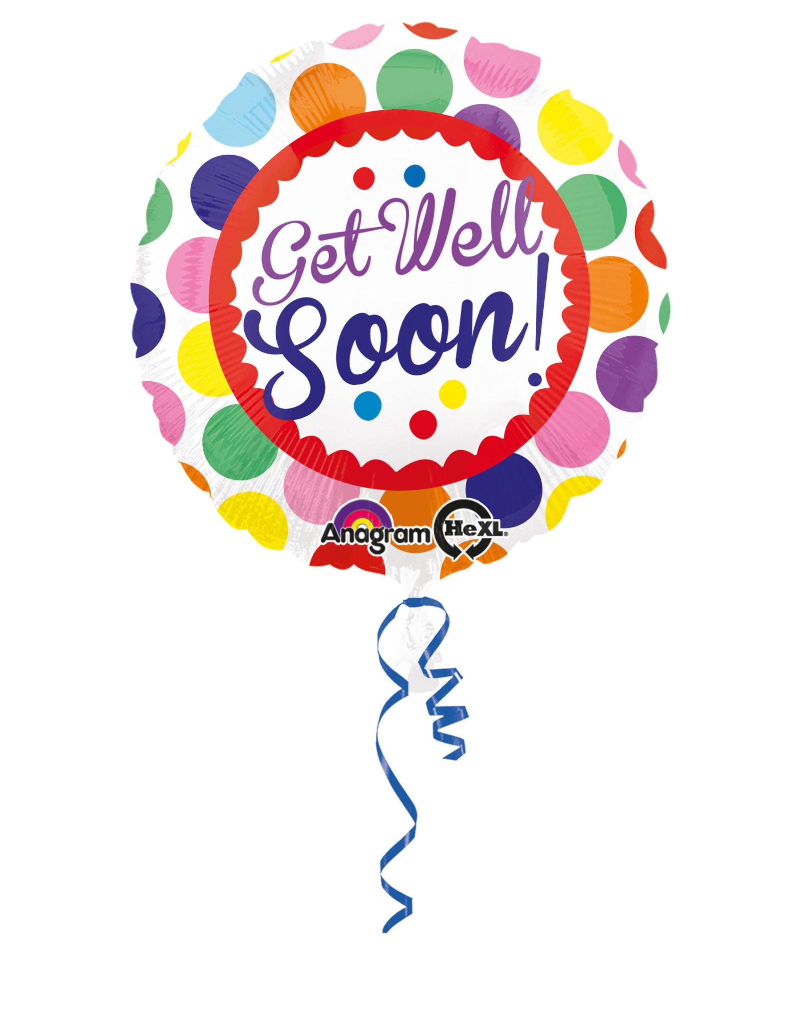 Amscan folieballon get well soon! 43 cm