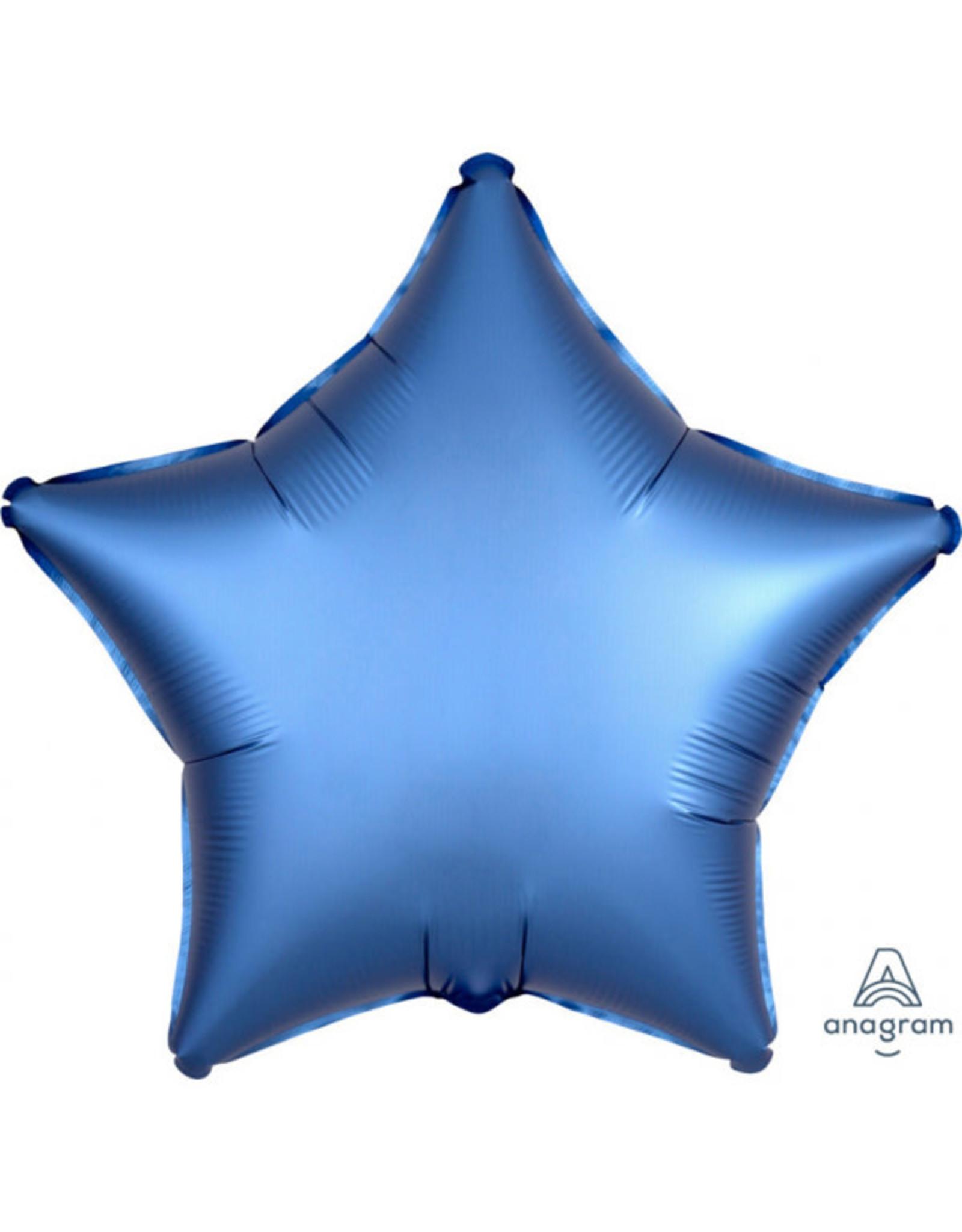 Amscan folieballon blauw ster 48 cm
