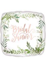 Amscan folieballon bridal shower love & leaves 43 cm