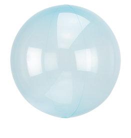 Amscan folieballon clear blue 38 x 40 cm