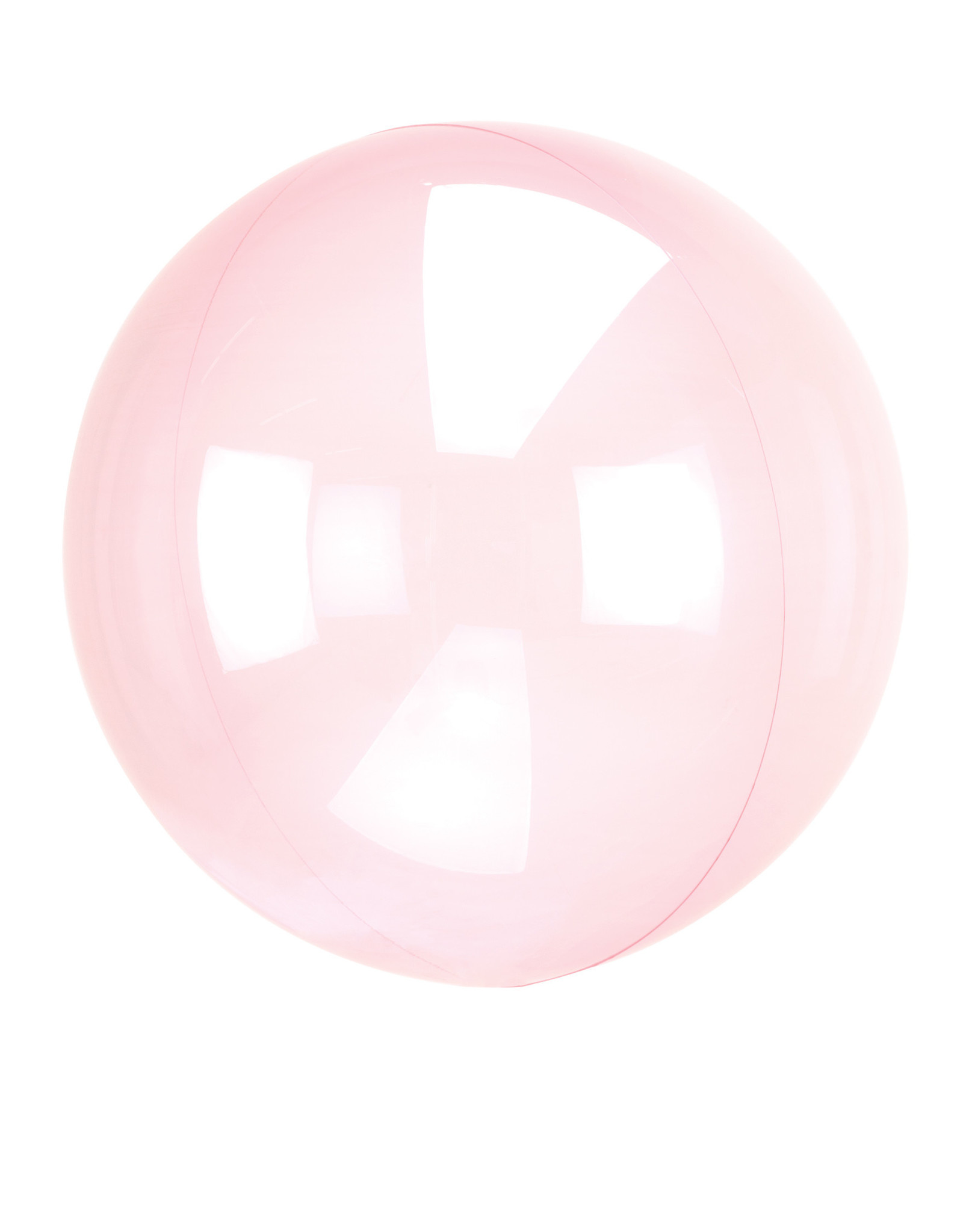 Amscan folieballon clear fuchsia 38 x 40 cm