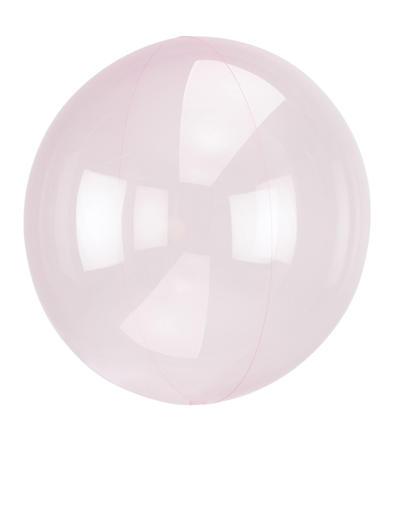 Amscan folieballon clear light pink 38 x 40 cm