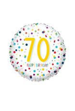 Amscan folieballon confetti 70 jaar 43 cm