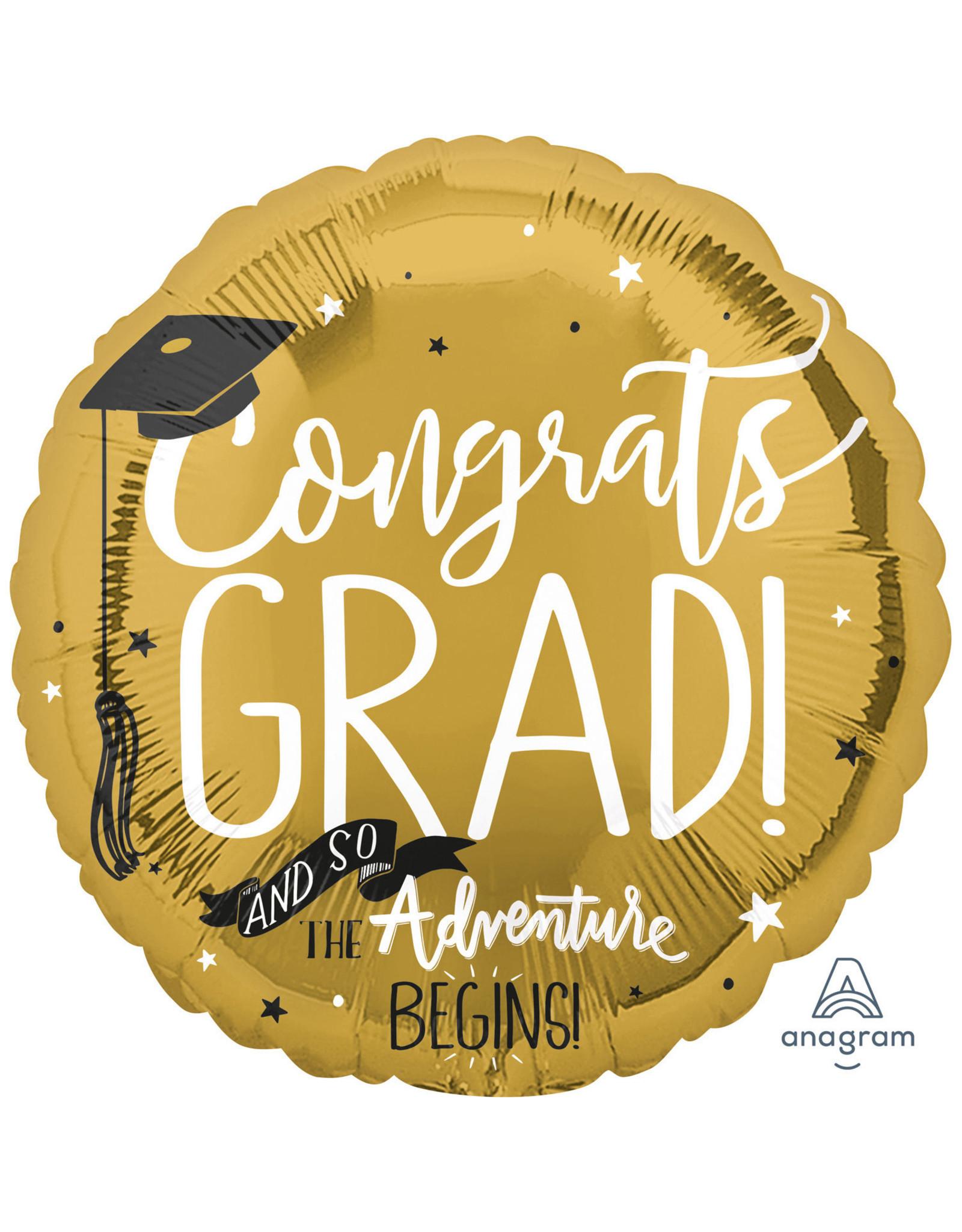 Amscan folieballon Congrats grad! 43 cm