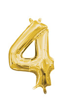 Amscan folieballon goud cijfer 4 40 cm