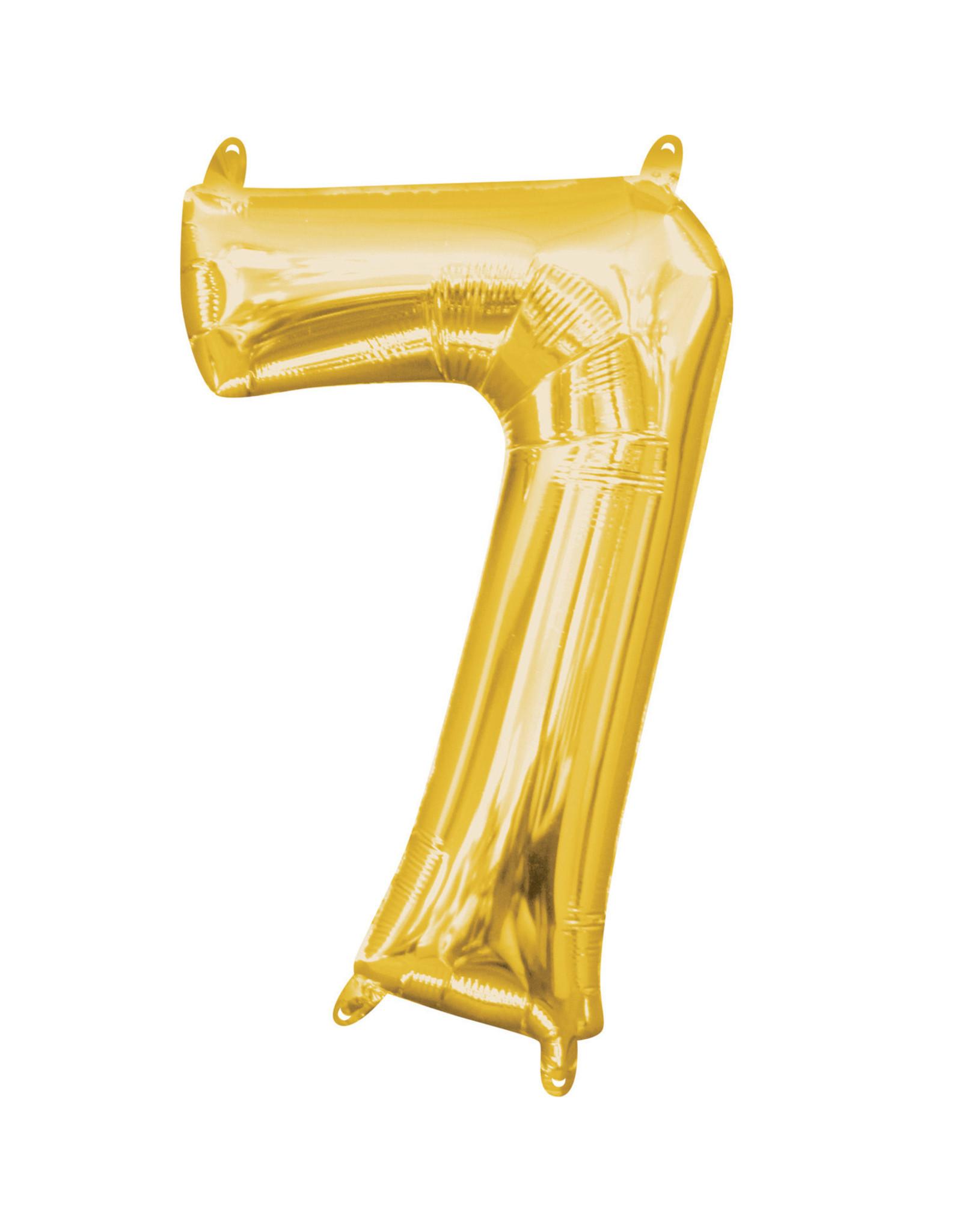 Amscan folieballon goud cijfer 7 40 cm