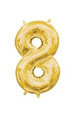 Amscan folieballon goud cijfer 8 40 cm