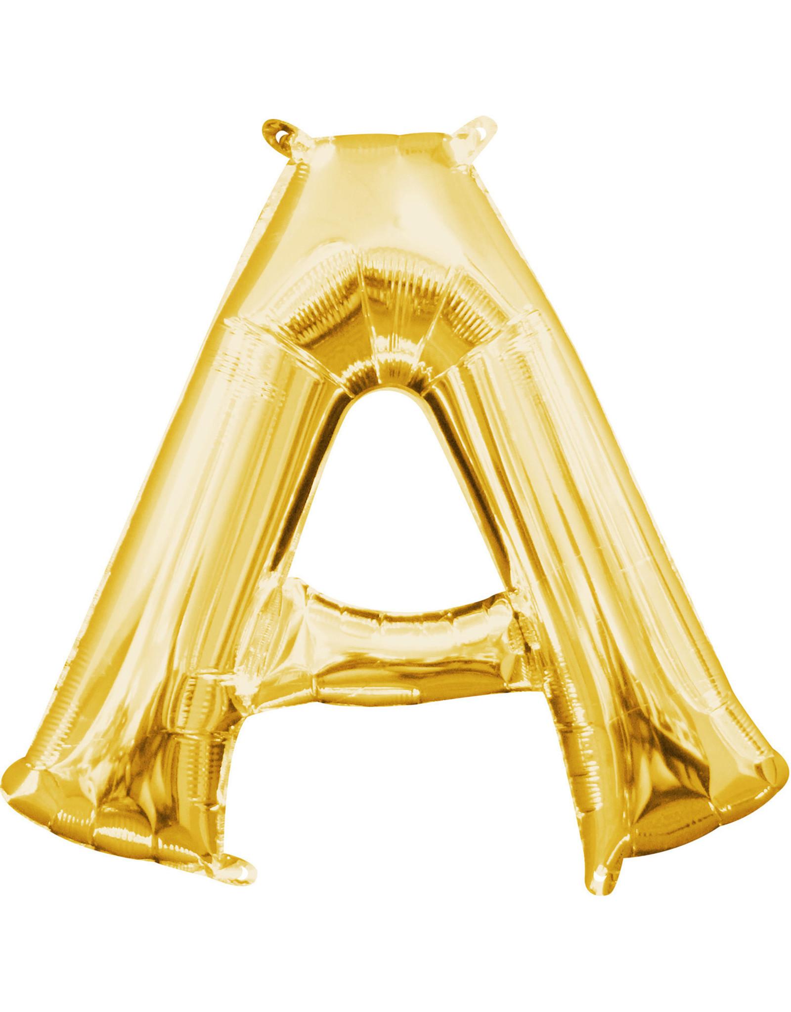 Amscan folieballon goud letter A 40 cm