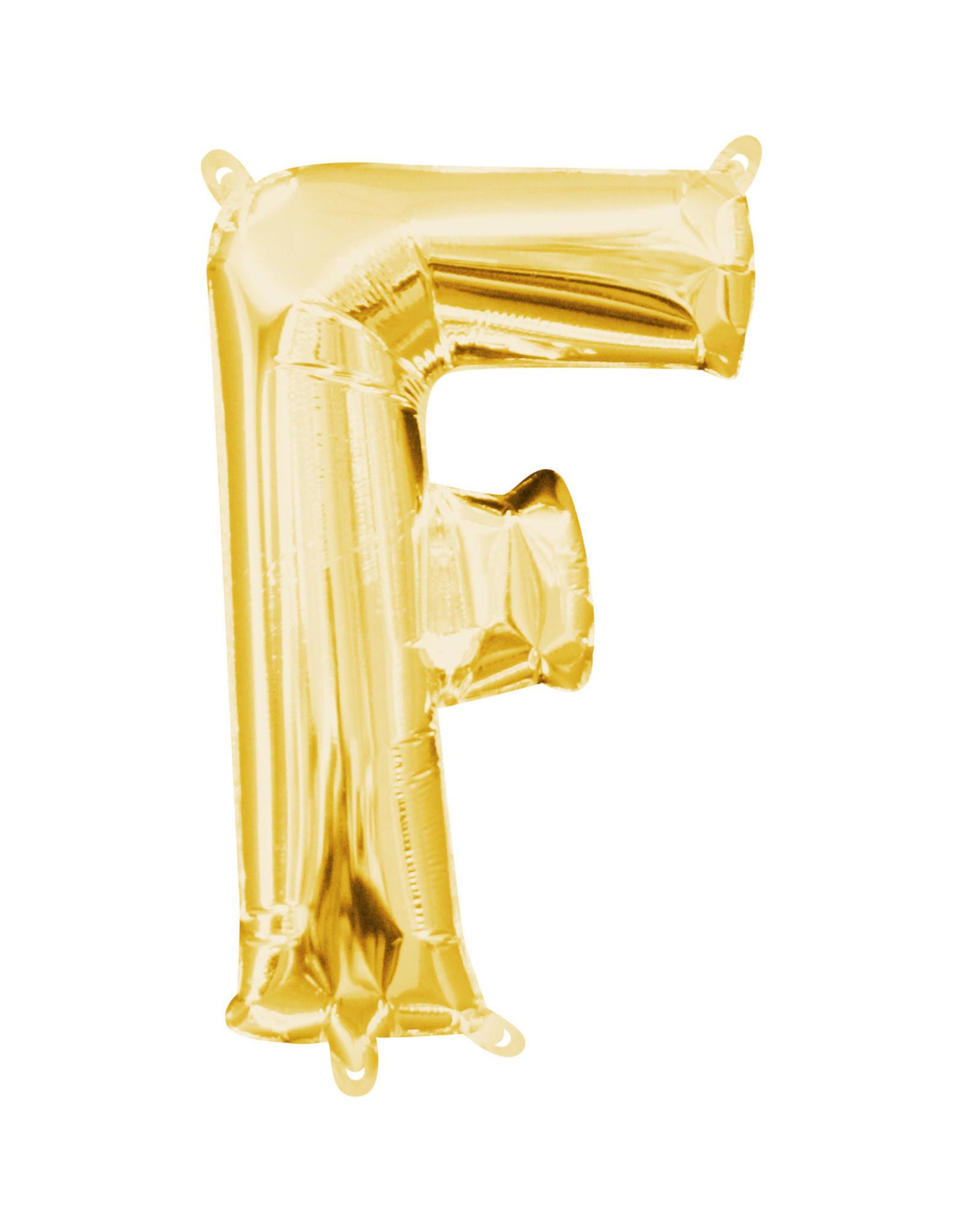 Amscan folieballon goud letter F 40 cm